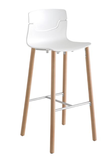 slot stool wood legs