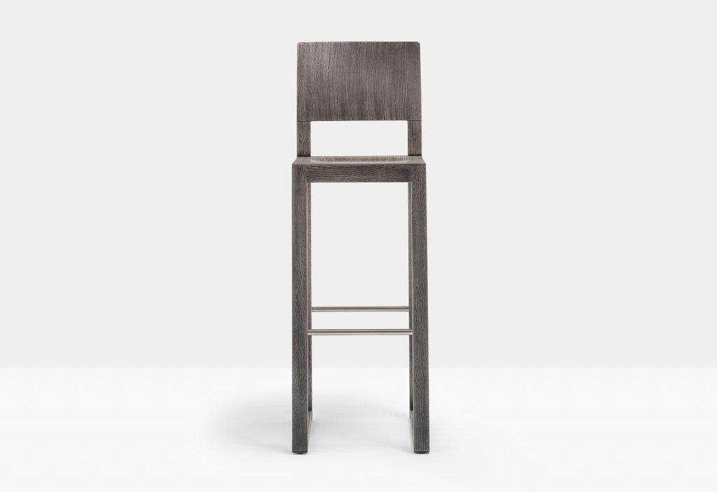 stool brera oak stained dark