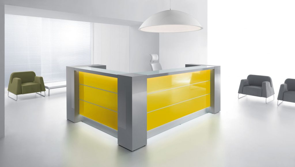 Valde reception counter with disabled optional desk.