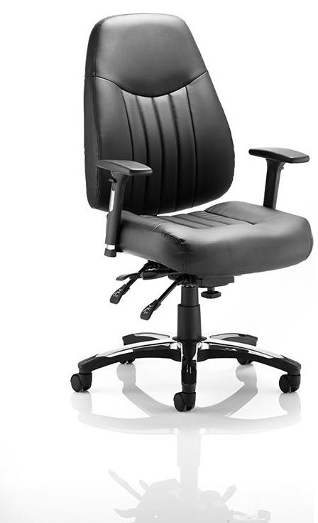 24hr task chair leather