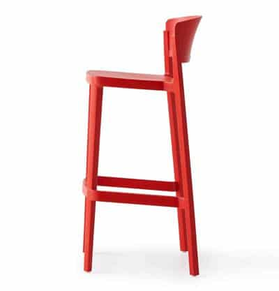 abuela stool red side view