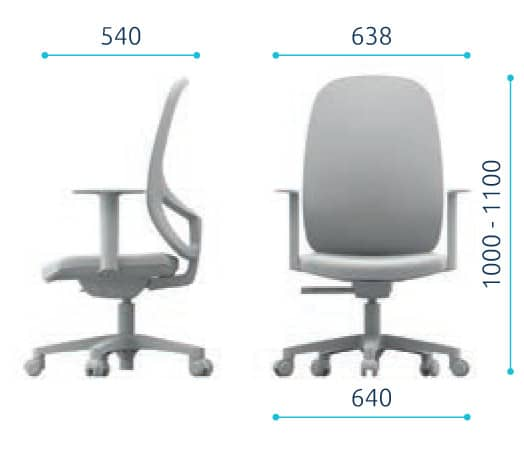 Sammy mesh office chair dimensions
