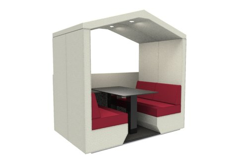 bea 4 seat den with half wall