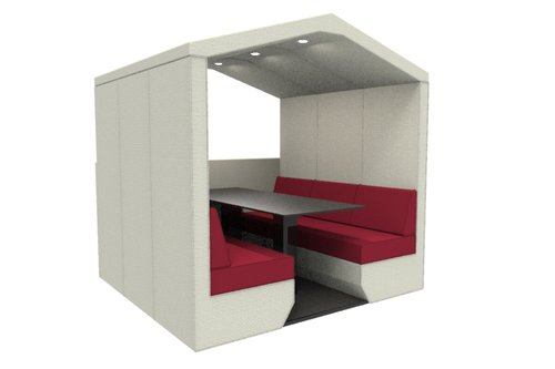 bea 6 seat den with half wall