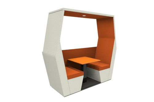 bill pod 2 seat den with half wall