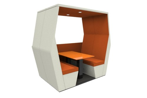 bill pod 4 seat den with half wall
