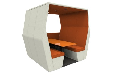 bill pod 6 seat den with half wall