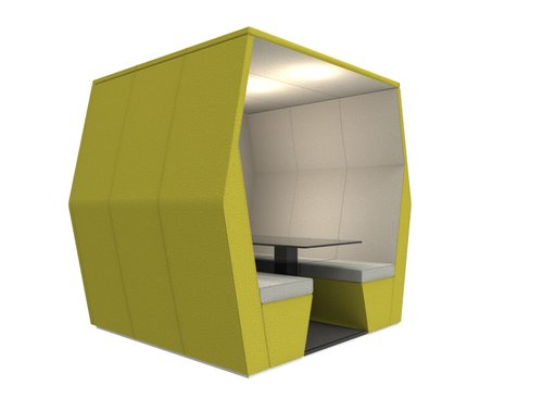 bill pod 6 seat den with wall