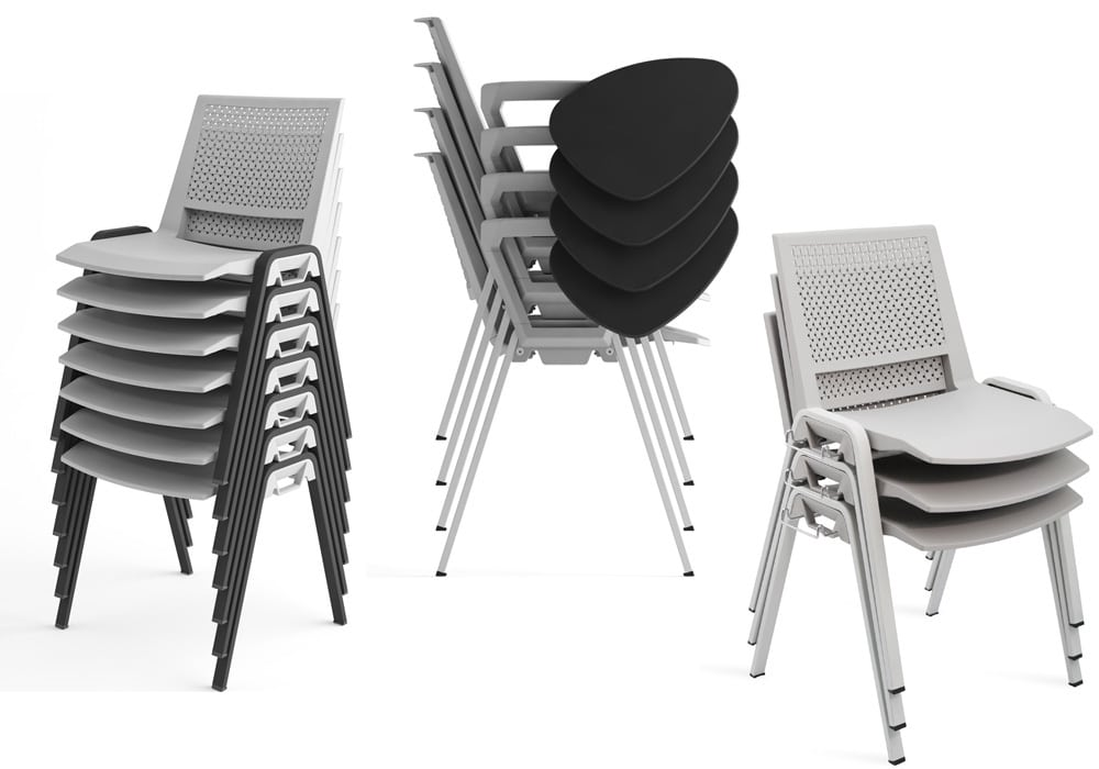 kentra chairs stacked