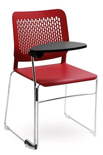 malika chair with writing tablet