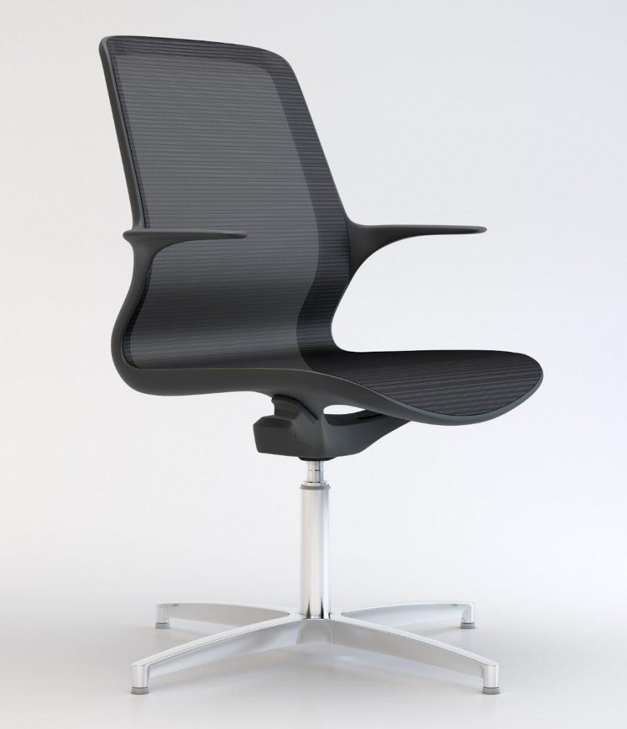 suzi black mesh visitore chair