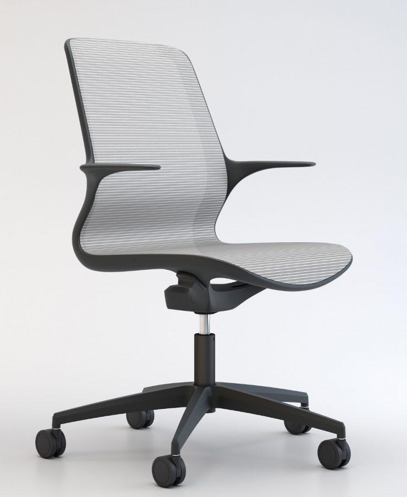 white mesh & Black frame home office task chair