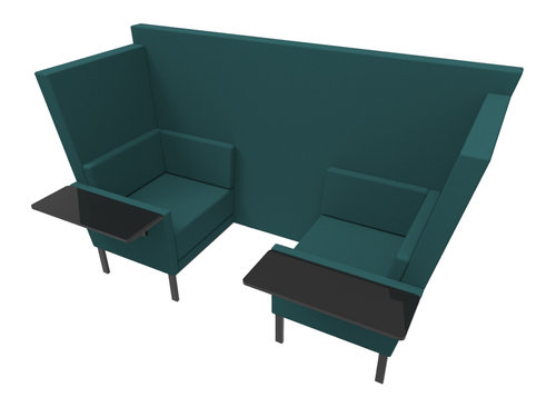 Two seat den with two tables