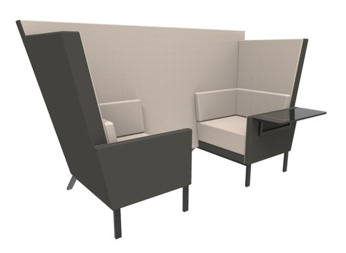 two seat den with table