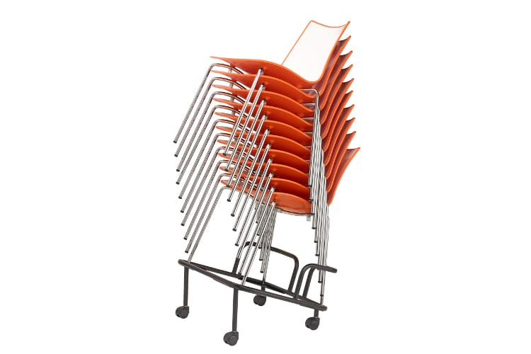 zebra bicolore chairs stacked