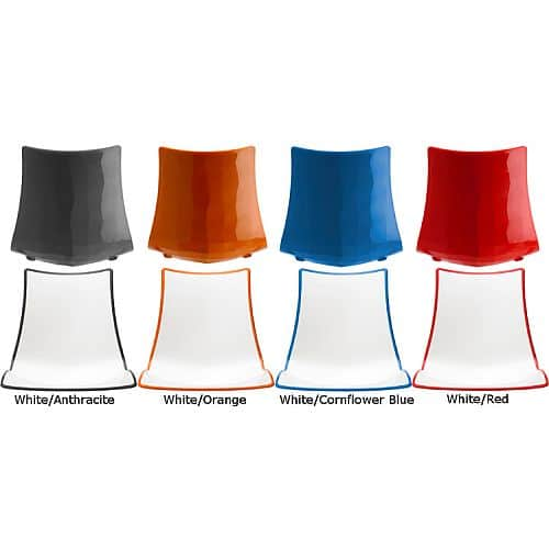 zebra bicolour chairs colours