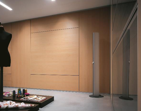 habitat 100 Storage wall and glazed paneled wall
