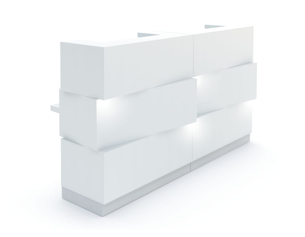 zen reception counter white