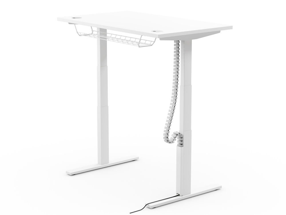 snake cable riser sit stand desk