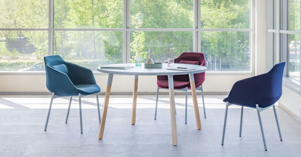 canteen round table wood legs