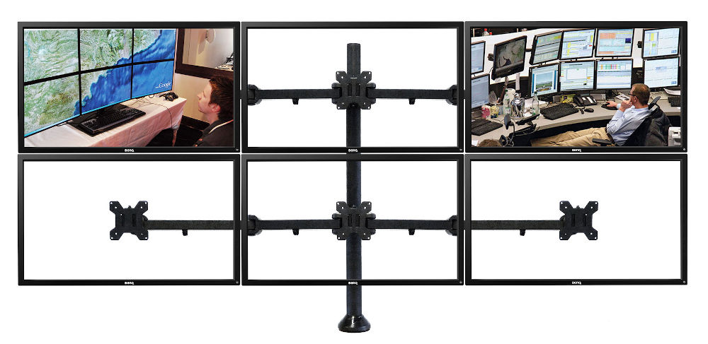 Six Screens Monitor Arm