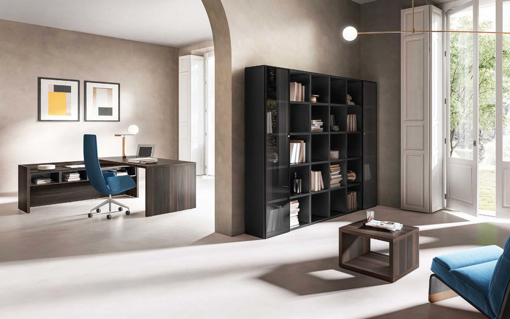 wood executive desking and storage