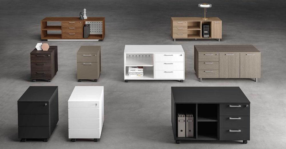 wood executive desking and storage