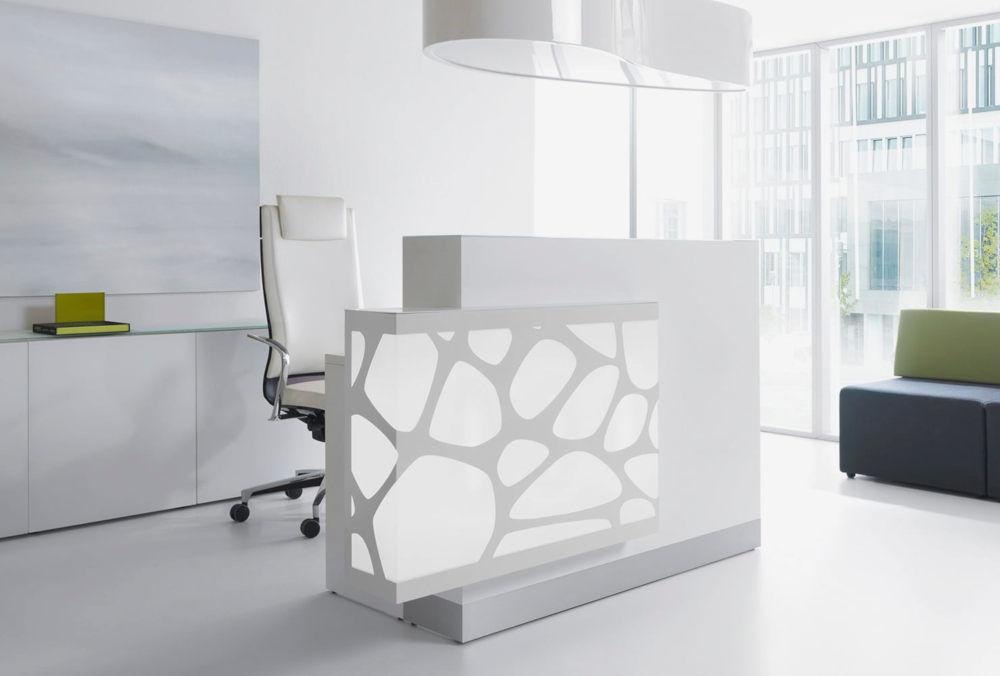 zik zak reception counter lights