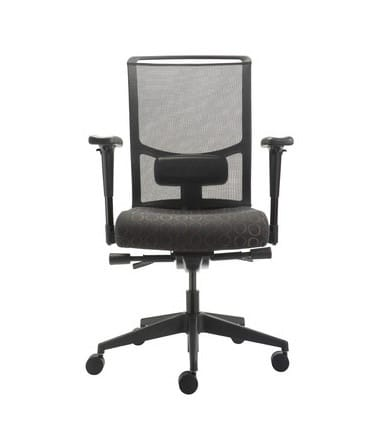 zoe office task chair black wave