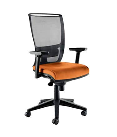 zoe office task chair orange